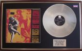 GUNS  N' ROSES - Illusion I LP Platinum disc & cover